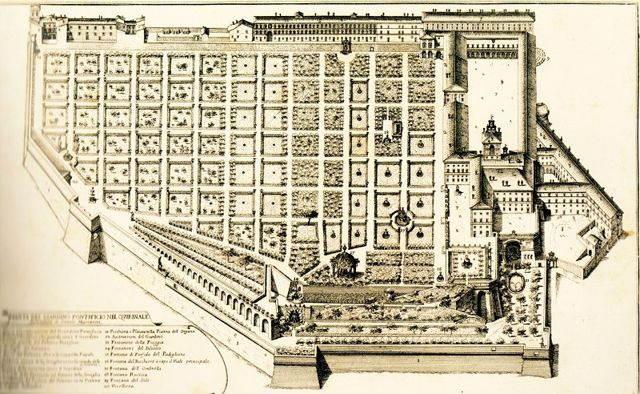 План садов Ватикана