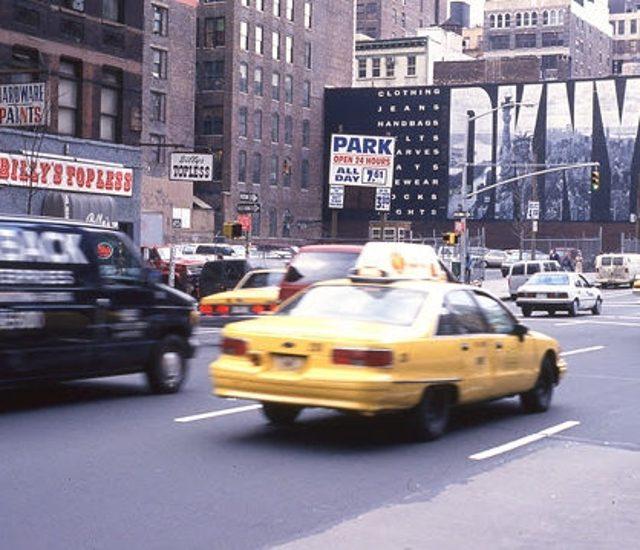 Нью-Йорк - желтое такси