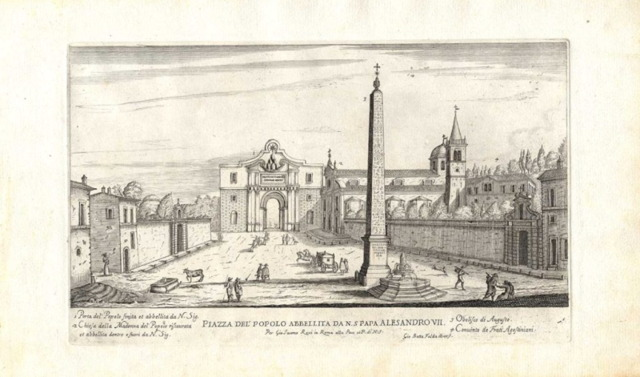 The Piazza del Popolo, embellished by Pope Alessandro VII