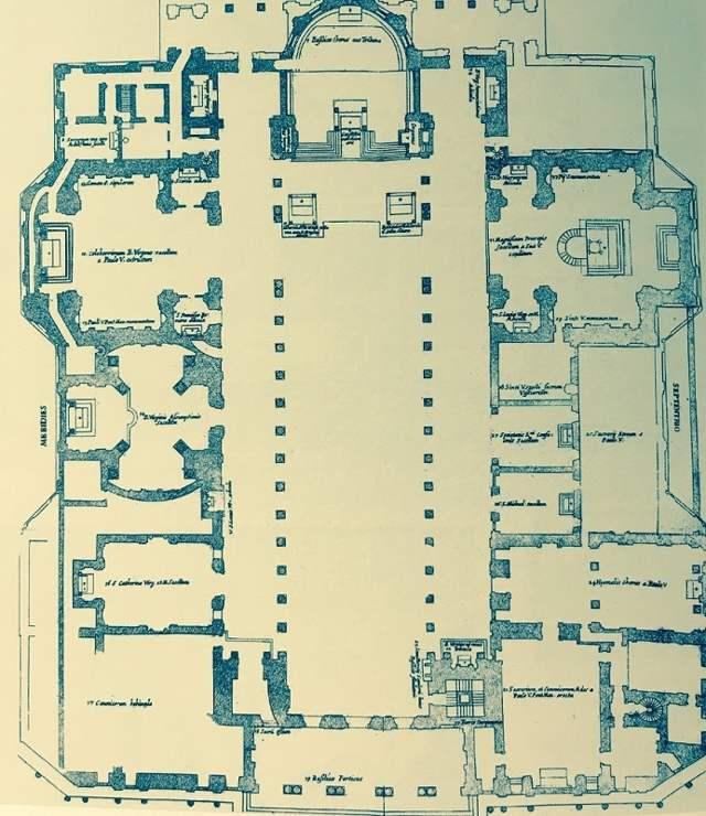 План базилики Санта Мария Маджоре