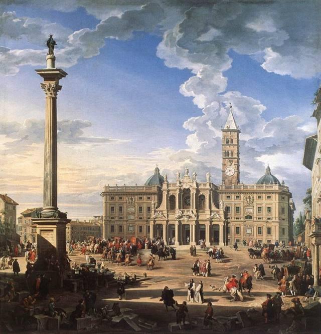 Площадь перед базиликой Санта Мария Маджоре