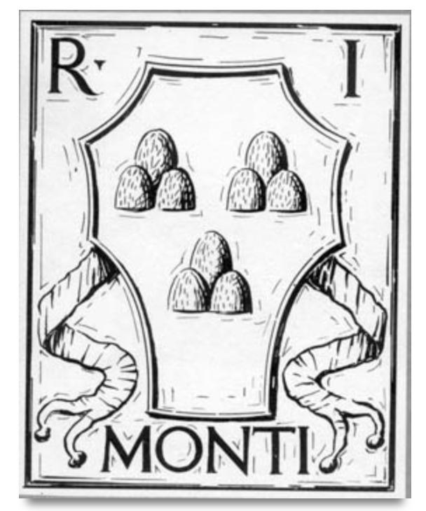 Герб первого жилого района Рима. Монти.