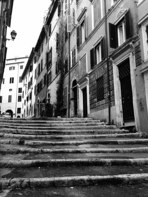 улица со ступеньками