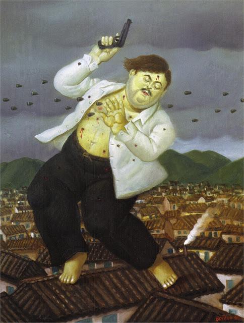 художник / скульптор Фернандо БОТЕРО (1932 )/ «Смерть Пабло Эскобара»