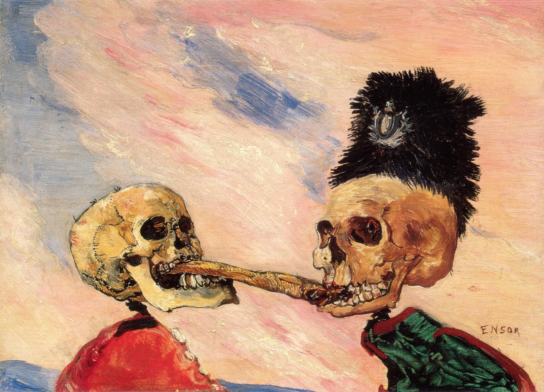 Скелеты сражаются за маринованную сельдь