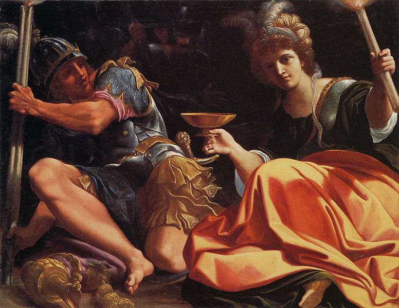 художник Лодовико КАРРАЧЧИ (1555-1609) / «Александр и Таис в огне Персеполя»