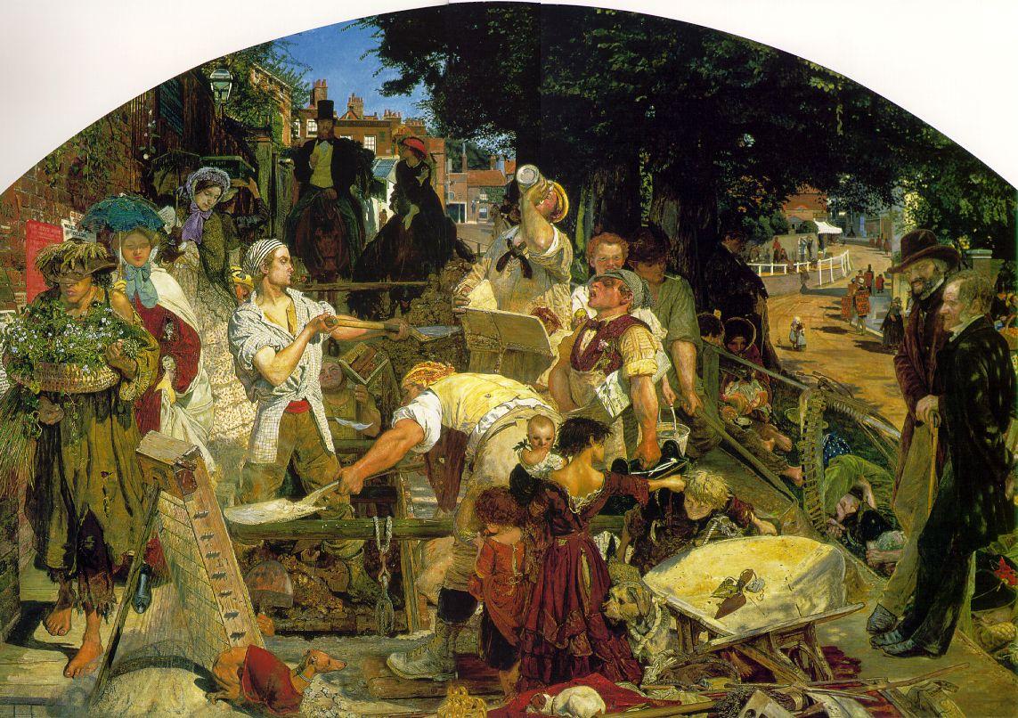 Форд Мэдокс Браун / «Труд»/ работа над монументальным полотном продолжалась тринадцать лет с 1852 по 1865г.