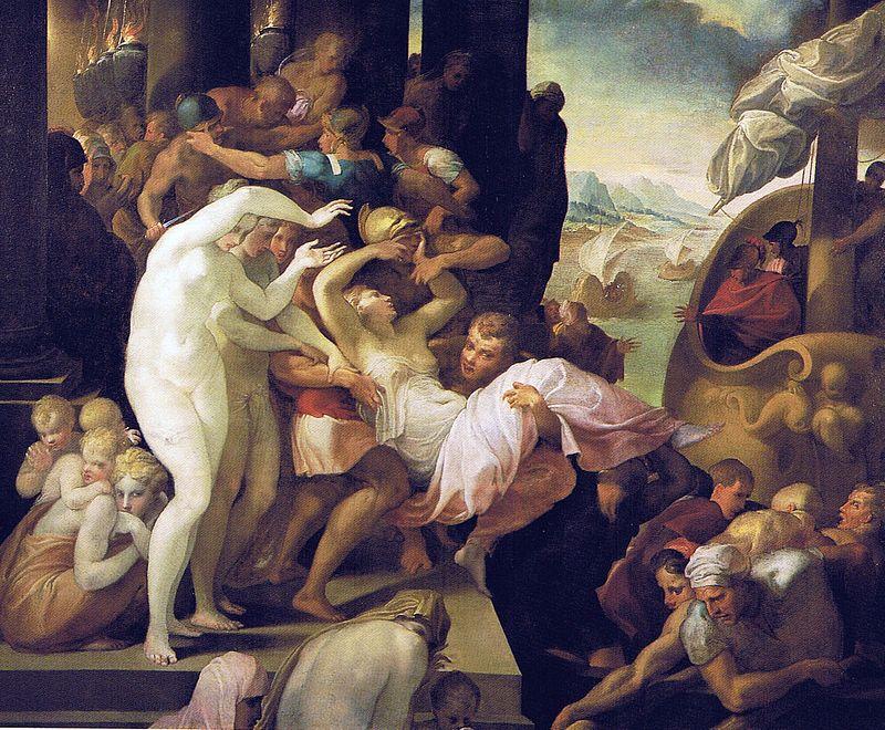 художник Франческо ПРИМАТИЧЧО (1504-1570) / «Похищение Елены»