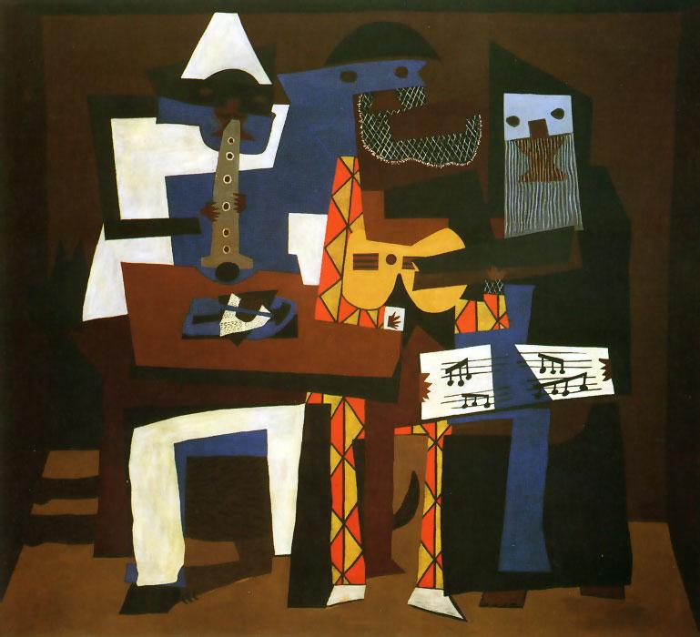 Пабло Пикассо / «Три музыканта (с собакой)» / 1921
