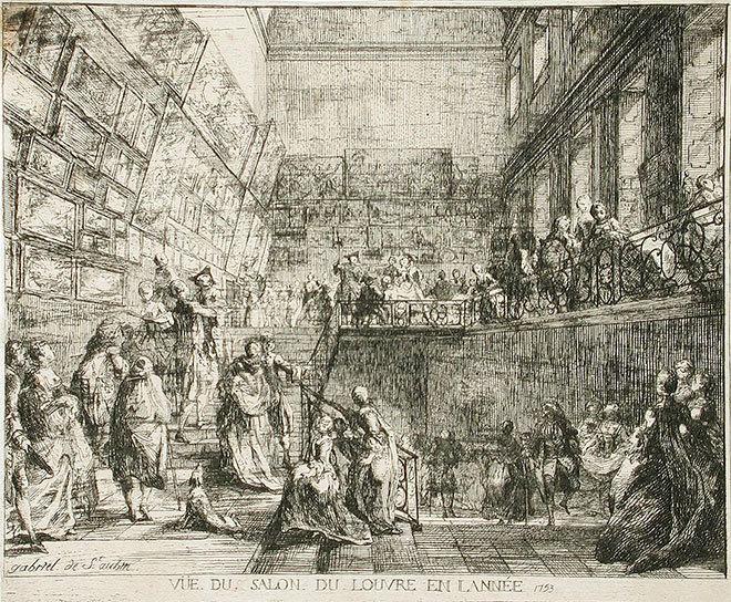 Салон 1753 года в Лувре