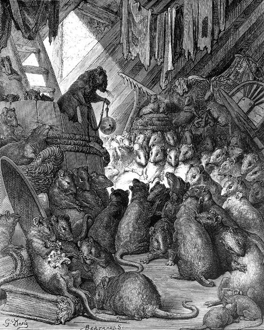 Мыши, собравшиеся, чтобы решить, кто из них повесит колокольчик на шею коту