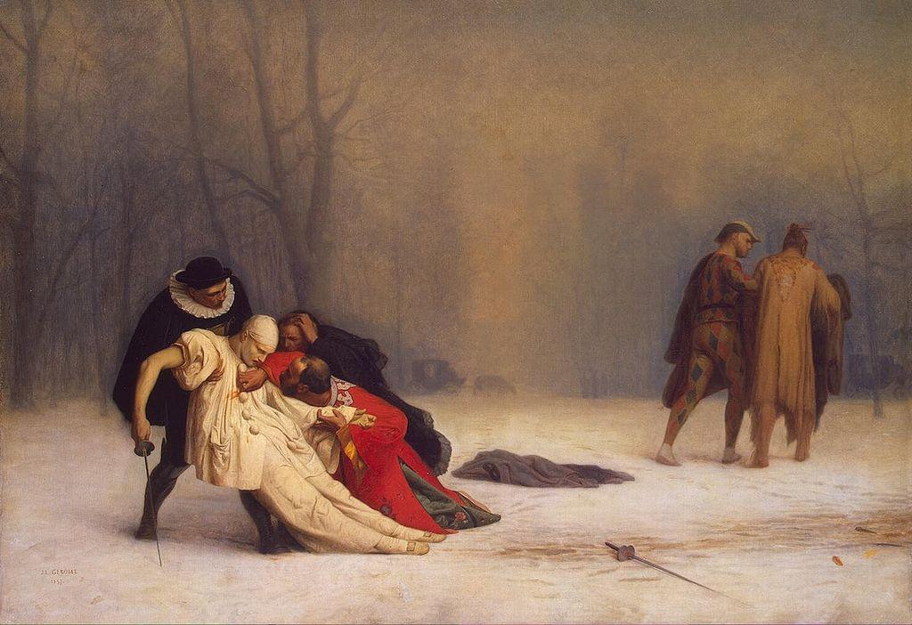 художник Жан-Леон ЖЕРОМ (1824-1904) / «Дуэль после маскарада»