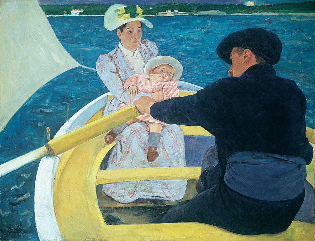 художница Мэри Стивенсон КЭССЕТТ (1844-1926) / «Прогулка на лодке»
