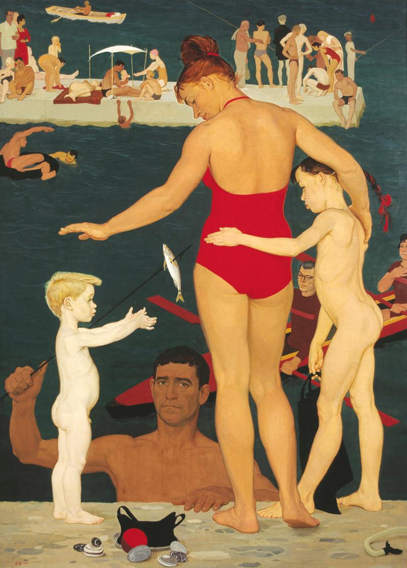 художник Дмитрий ЖИЛИНСКИЙ (1927-2015) / «У моря. Семья»