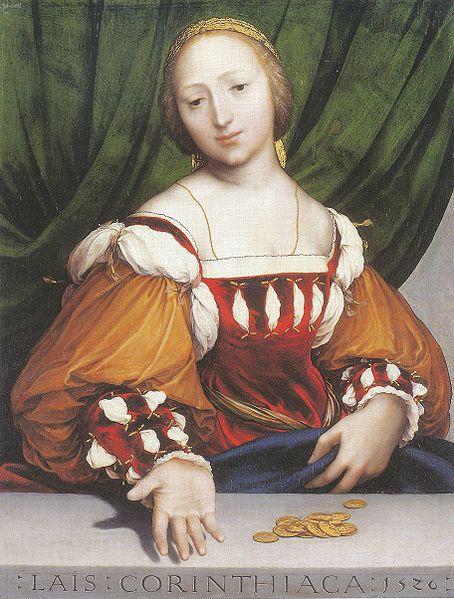 Ганс Гольбейн (Младший) / «Лаис Коринфская» / 1526