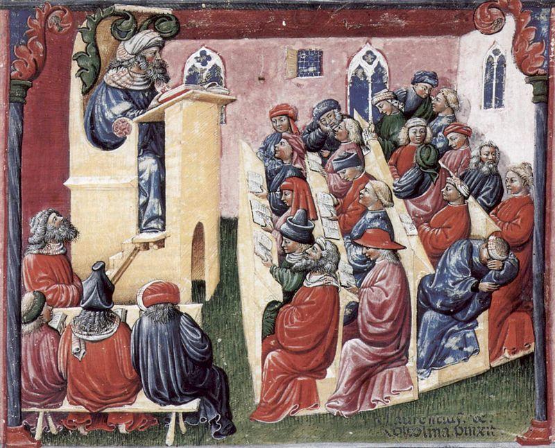 Лаурентиус де Волтолина / «Хенрикус со своими учениками» / вторая половина XIV века