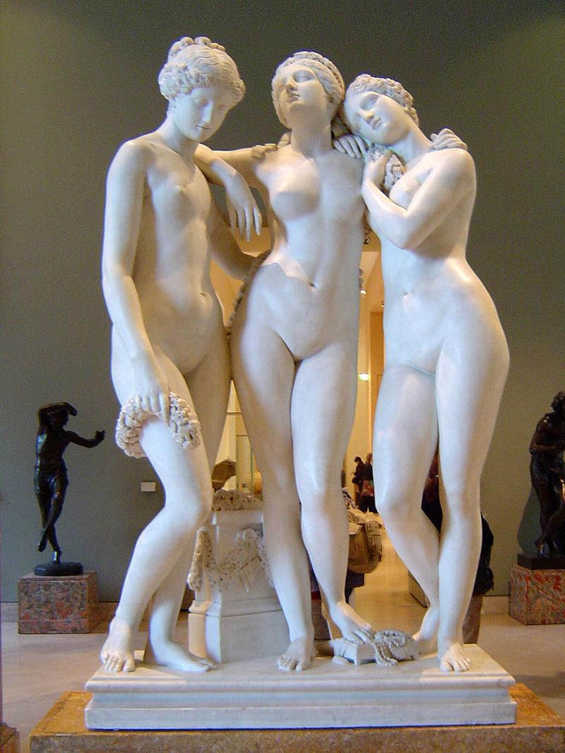 скульптор Жан Жак ПРАДЬЕ (1790-1852) / «Три грации»