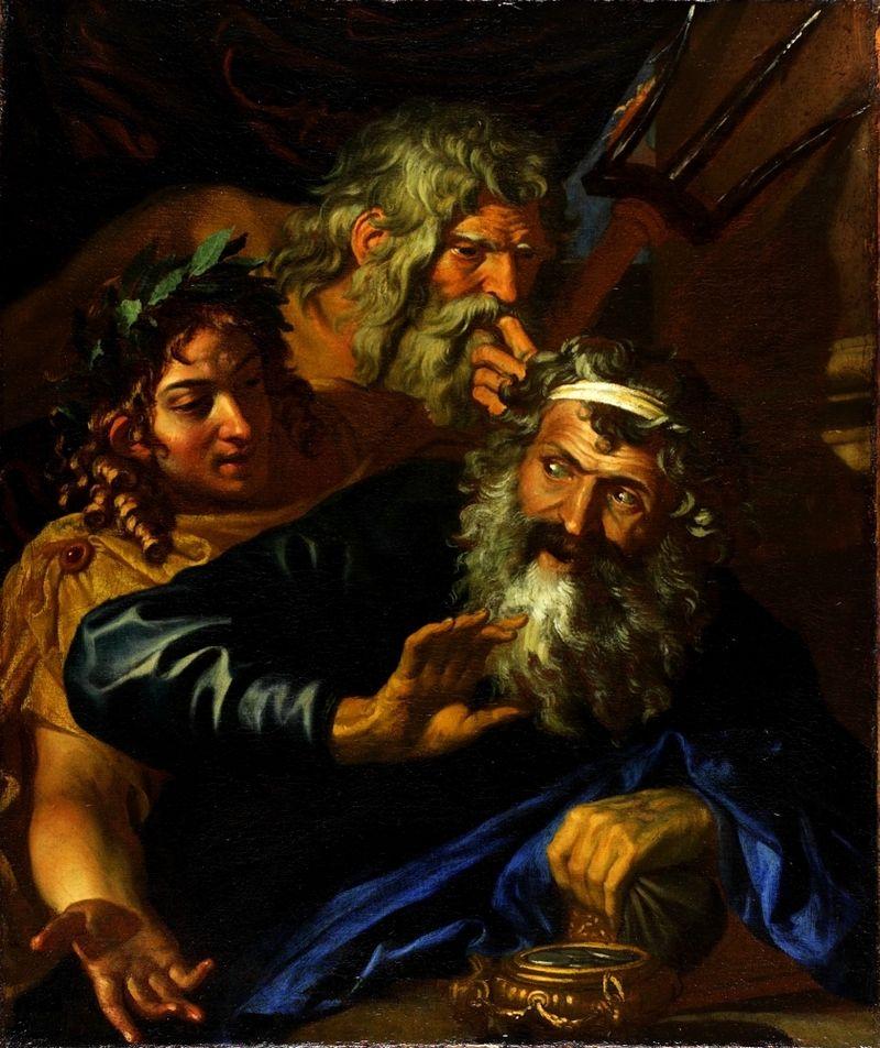 Лаомедонт отклоняет предложение Аполлона и Посейдона