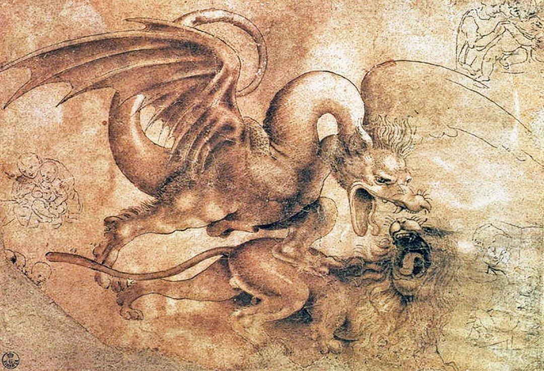 Битва дракона со львом