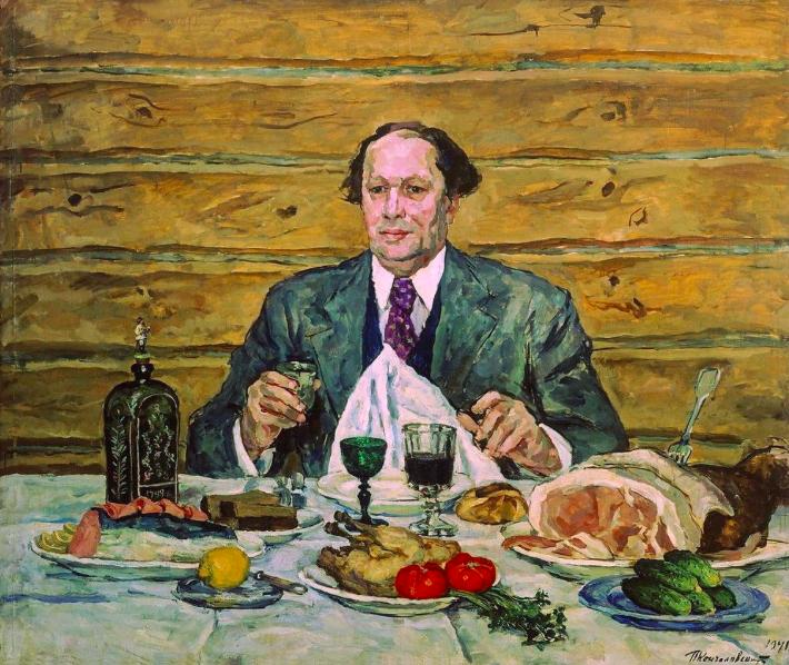 А. Н. Толстой в гостях у художника