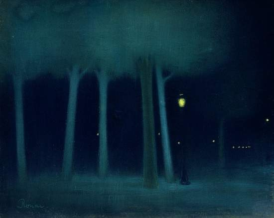 художник Йожеф РИПЛЬ-РОНАИ (1861-1927) / «Парк. Ночь»