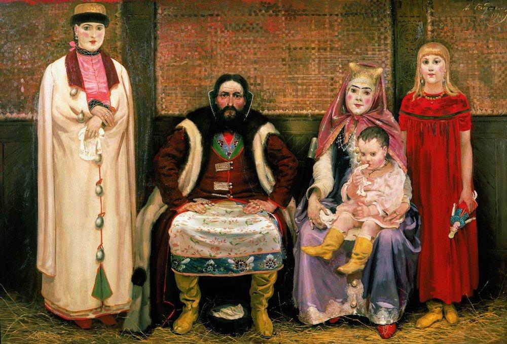 Семья купца в XVII веке