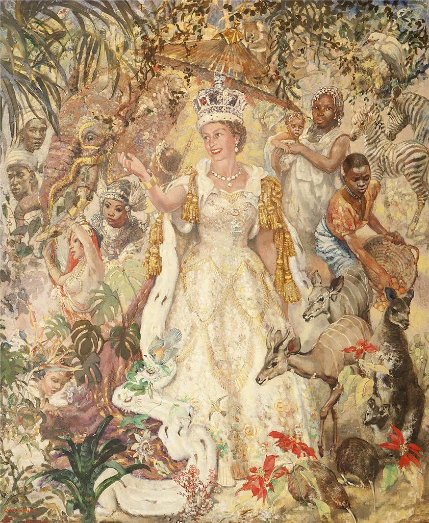 Коронационный портрет королевы Елизаветы II