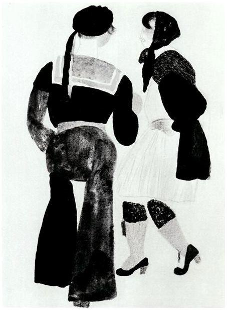 Владимир Лебедев / «Девушка и матрос» / 1922