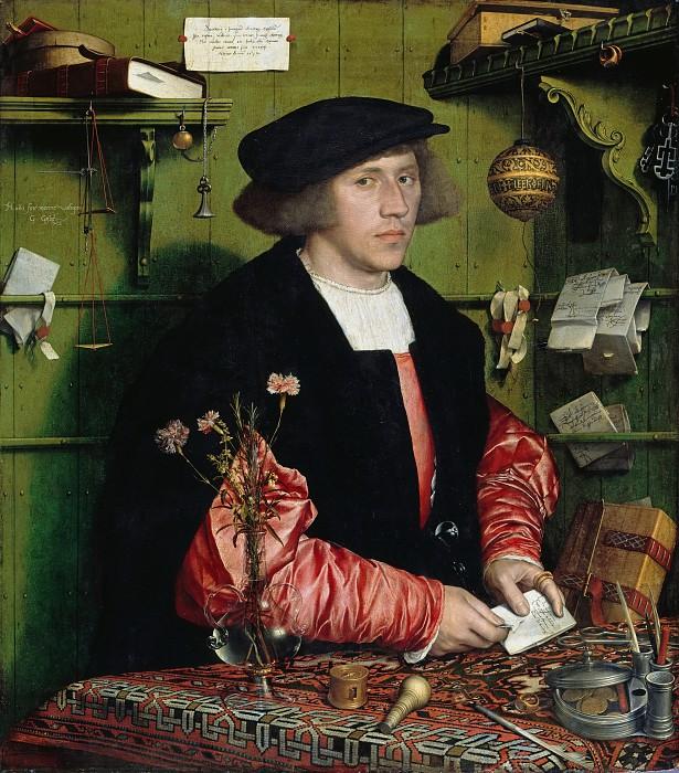 Ганс Гольбейн (Младший) / «Портрет купца Георга Гисце» / 1532