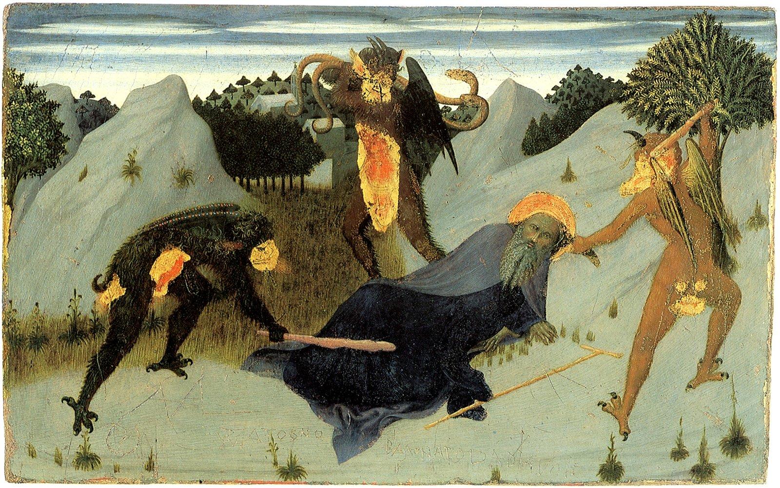 Стефано ди Джованни Сассетта / «Святой Антоний, мучимый бесами» / 1432