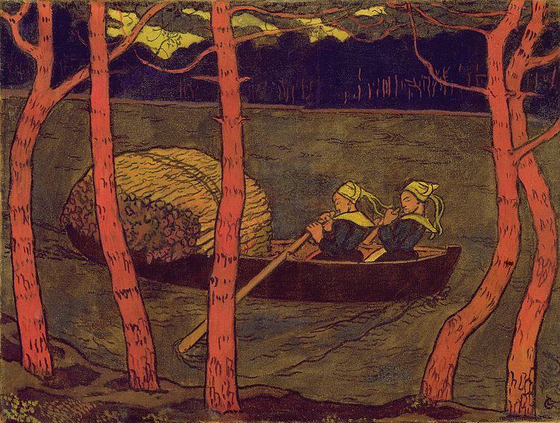 Бретонки в лодке
