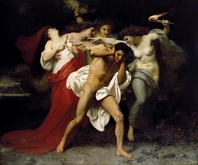 Вильям Адольф Бугро / «Орест, преследуемый Эриниями» / 1862