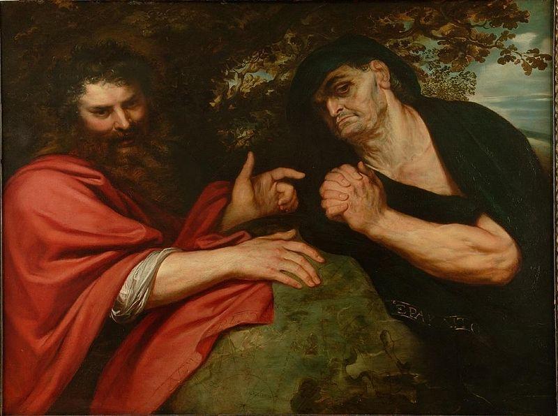 Гераклит и Демокрит