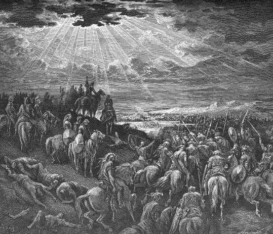 Гюстав Доре / «Иисус Навин останавливает Солнце» / 1883