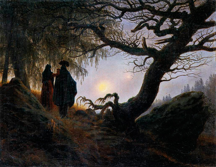 Двое, созерцающие луну