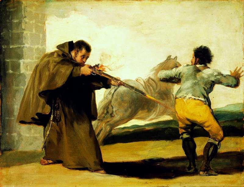 Монах Педро стреляет в Эль Марагато,
