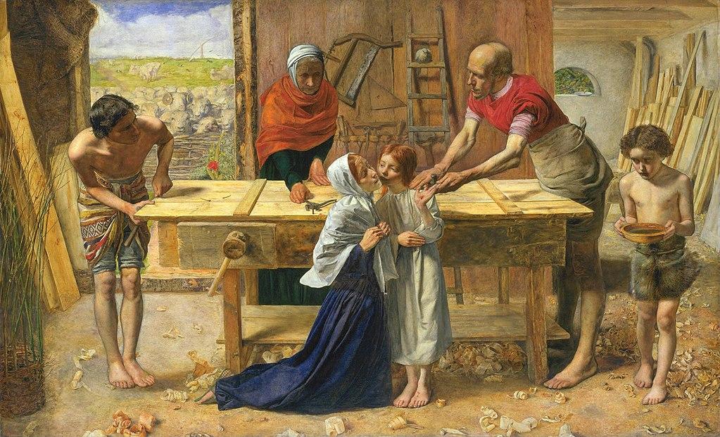 Джон Эверетт Милле / «Христос в родительском доме» / 1850