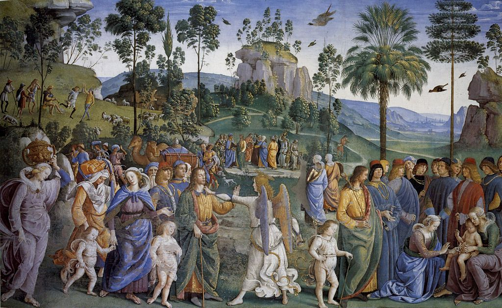 Пьетро Перуджино / «Исход Моисея из Египта» / 1482