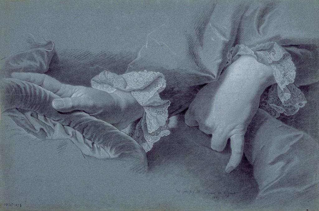 художник Гиацинт РИГО (1659-1743) / «Этюд к портрету Филиппа-Людвига Венцель фон Зинзендорфа»