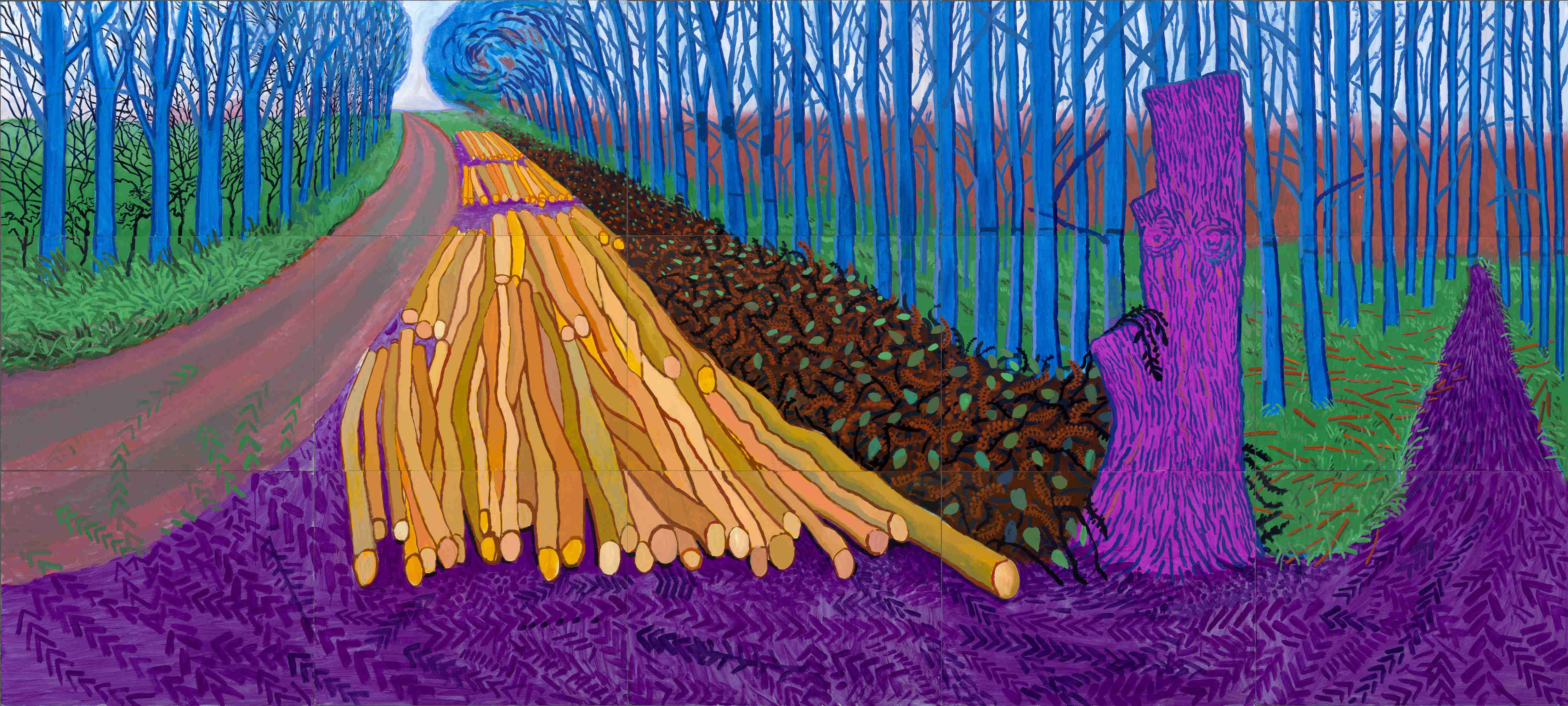 художник Дэвид ХОКНИ (1937) / «Зимний лес»