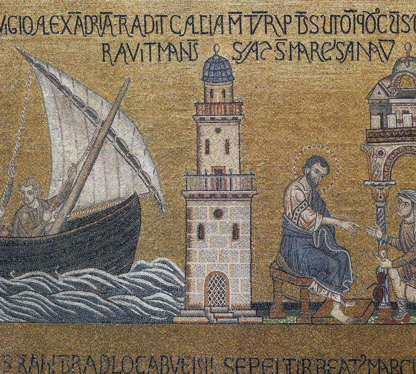 Святой Марк, прибывающий в город Александрия