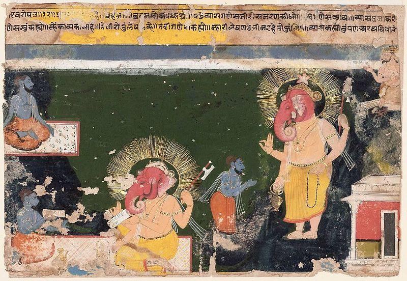 Ганеша пишет Махабхарату, под диктовку Вьясы