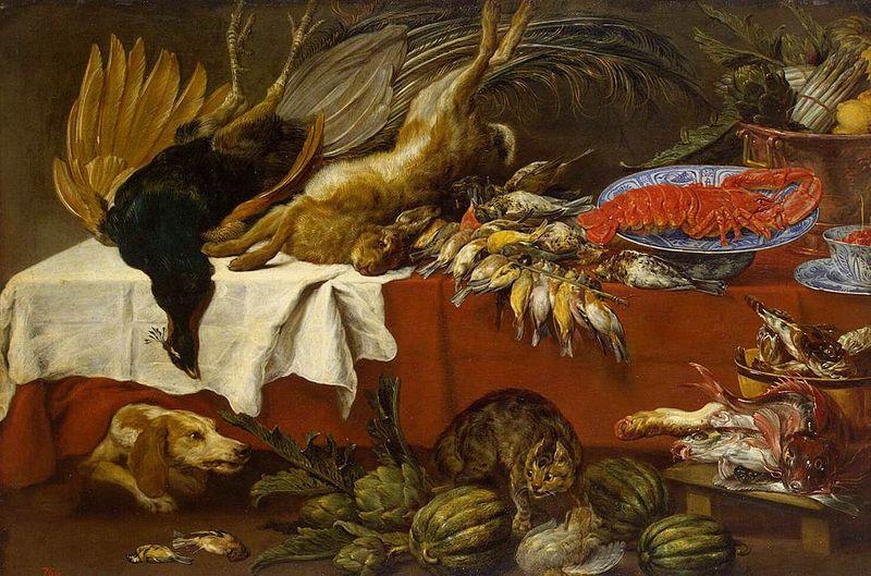 Пауль де Вос / «Натюрморт с битой дичью и омаром» / 1640-60