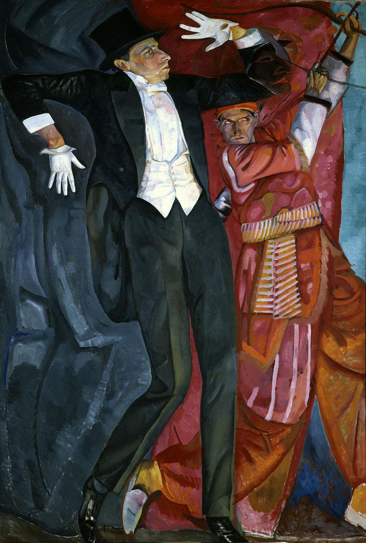 художник Борис ГРИГОРЬЕВ (1886-1939) / «Портрет В. Мейерхольда»