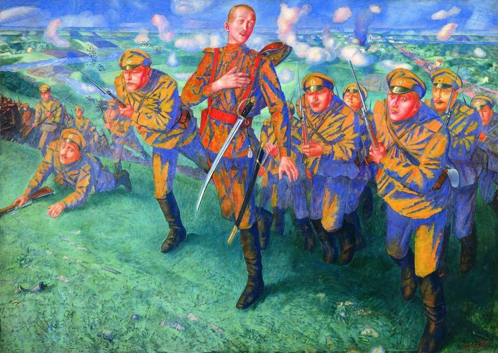 Кузьма Петров-Водкин / «На линии огня» / 1916