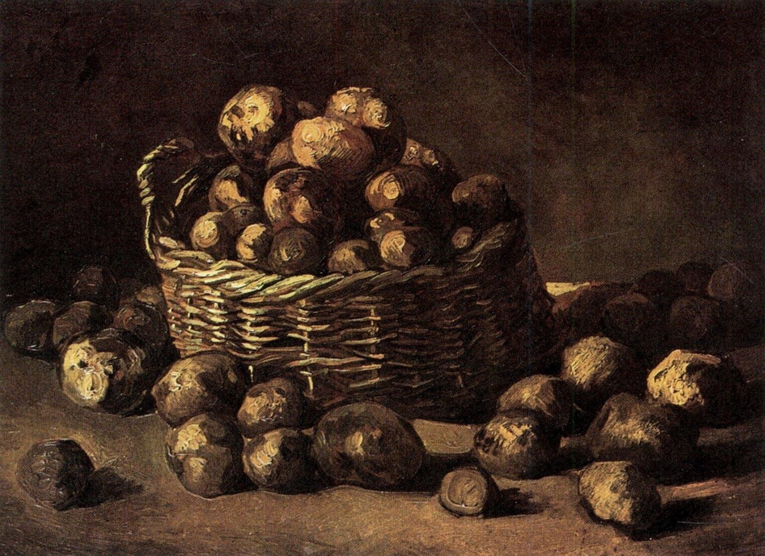 Винсент Ван Гог / «Корзина картофеля» / 1885