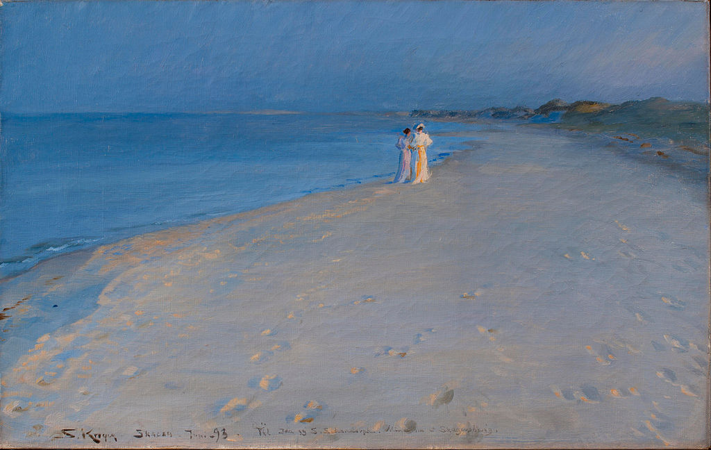 художник Педер Северин КРОЙЕР (1851-1909) / «Летний вечер на Южном пляже, Скаген»