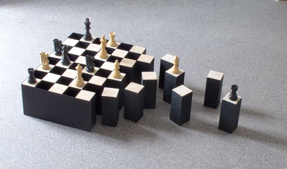 Дезинтегрирующая шахматная доска с оптической иллюзией