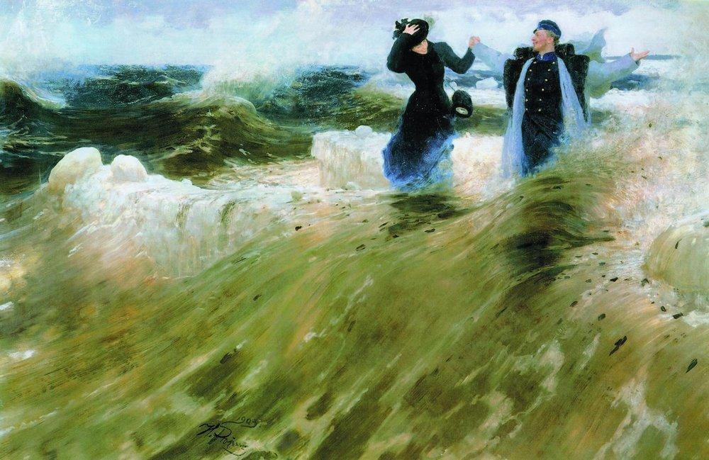 художник Илья РЕПИН (1844-1930) / «Какой простор!»