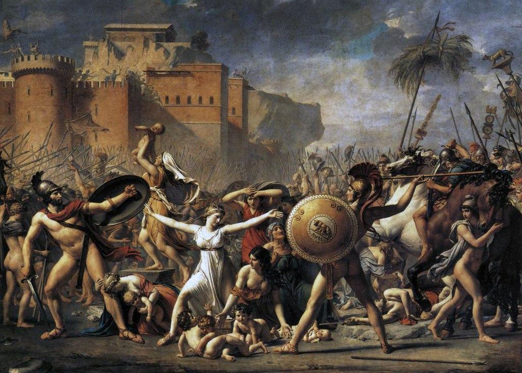 художник Жак-Луи ДАВИД (1748-1825) / «Сабинянки, останавливающие сражение между римлянами и сабинянами»